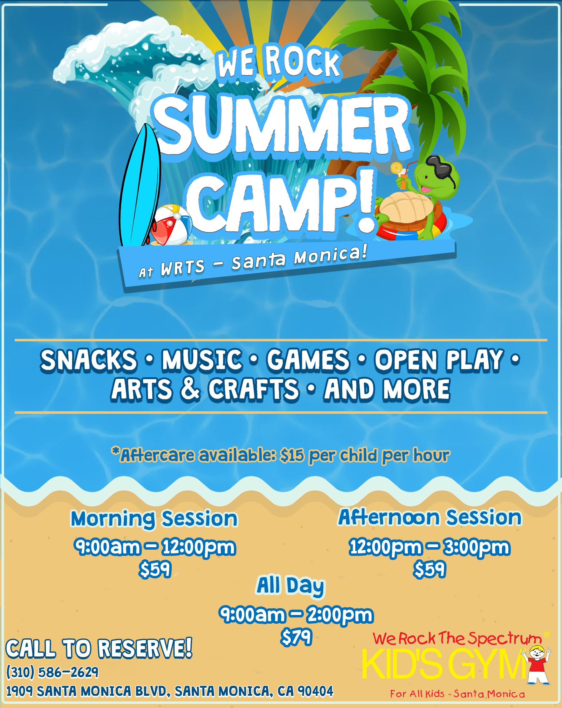 WRTS Santa Monica Summer Camp Flyer 2021